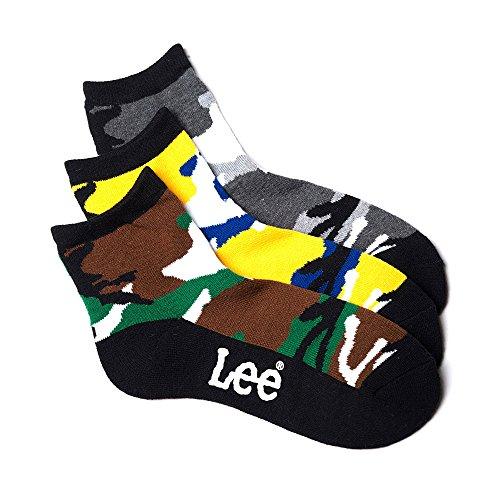 (リー)Lee メイサイクォーターソックス・3足セット/メンズ AC1051A328 90A アソートA 25-27cm