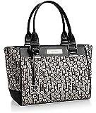 Calvin Klein Logo Jacquard City Shopper Tote Bag Handbag Satchel