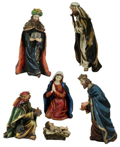 6 Peice 11.5 Inch Resin Nativity Figurine Set [397376] front-967296
