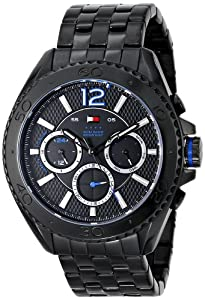 Tommy Hilfiger Men's 1791033 Analog Display Quartz Black Watch