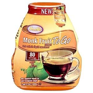 Nevella Monk Fruit to Go Liquid Sweetner, 1.68 oz. (80 Servings) (Pack of 3)