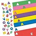 Lot de 600 lettres majuscules de l'alphabet en mousse autocollante