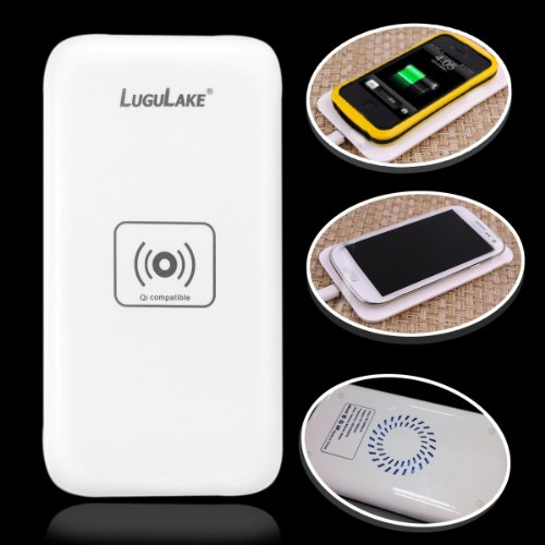 New Arrival - LuguLake Qi-Enabled Wireless Standard Charger - White (New Arrival - QI Cooling pad)