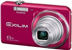 Casio Exilim EX-ZS20 Digitalkamera (16 Megapixel, 6-fach opt. Zoom, 6,9 cm (2,7 Zoll) Display, bildstabilisiert) rot