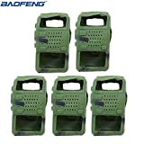 5pcs Handheld Soft Rubber Case Portable Silicone Cover Shell for Baofeng UV-5R Series Two Way Radios Walkie Talkie (Camouflage) (Color: Camouflage)