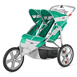 InStep Flash Double Stroller Green/Gray