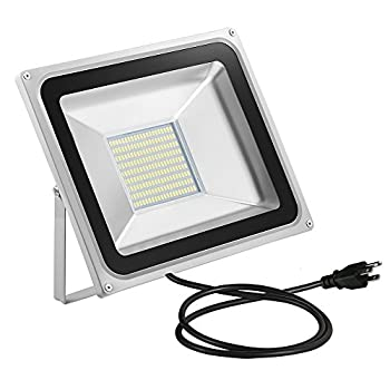CHUNNUAN LED Flood Light,100W,10000LUMEN,6000-6500K Cold White, Waterproof, IP65, Instant On, CE and ROHS Certified,US 3-Plug Outdoor Security Lights Super Bright Floodlight