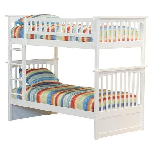 Columbia Twin/Twin Bunk Bed - White