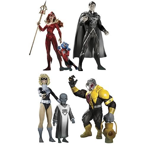 DC Direct Green Lantern Blackest Night Series 7 Set of 4 Action Figures Superman, Terra with Scar, Mera Arkillo (Red Lantern Mera compare prices)