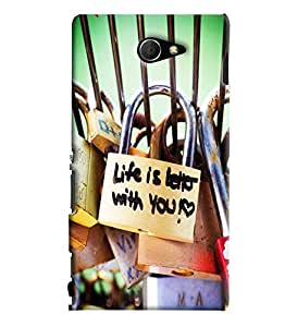 Blue Throat Life Is Better With You Printed Designer Back Cover/ Case For Sony Xperia M2