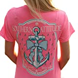 With a cute screen-printed graphic that features the brand's name, this Southern Attitude Little Sweet Little Salty Bow Tie Anchor will be a great option for your Southern Attitude t-shirt collection. Made with 100% cotton and high quality sc...