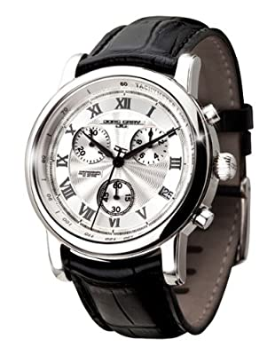 Jorg Gray Leather Chrono Silver Dial Men's watch #JG7200-11 by Jorg Gray