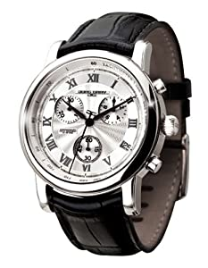 Jorg Gray Leather Chrono Silver Dial Men's watch #JG7200-11
