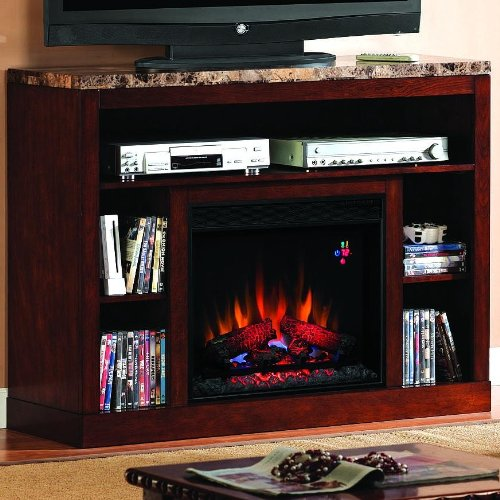 Adams 47-inch Electric Fireplace Media Console - Empire Cherry - 23mm1824 picture B00982FD1M.jpg