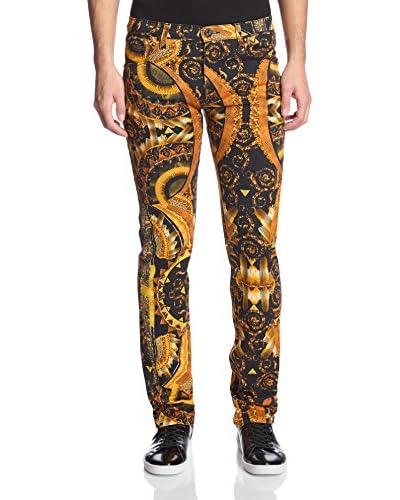 Versace Jeans Men's Allover Print Slim Jeans