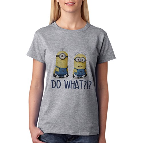 Despicable Me Minions Do What-Maglietta da donna grigio XL