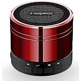 EasyAcc® Mini Portable aufladbarer Bluetooth Lautsprecher für Smartphones, Tablets PC, Laptops, Ultrabook, mit Mikrofon, Ünterstützt das Abspielen von Musik von Micro SD Karten & FM Radio Funktion - Farbe: Rot