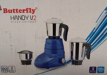 Butterfly-Handy-V2-550W-Mixer-Grinder-(3-Jars)