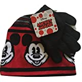 Disney Mickey Mouse Knit Cap and Glove Set