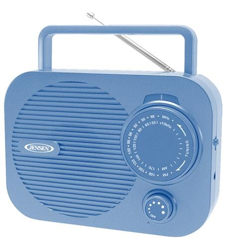 Spectra Merchandising Mr-550-Bl Portable Am/Fm Radio (Blue) W/ Aux Jack (Jen-Mr-550-Bl)