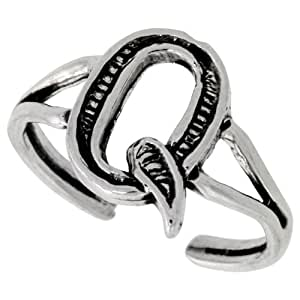Amazon.com: Sterling Silver Initial Letter Q Alphabet Toe