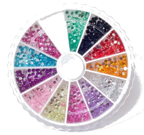Nail Art MoYou Rhinestone Pack of 1200 Crystal
