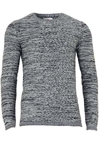 JACK & JONES JORARGO KNIT CREW NECK, Felpa Uomo, Grigio (Light Grey Melange), Medium