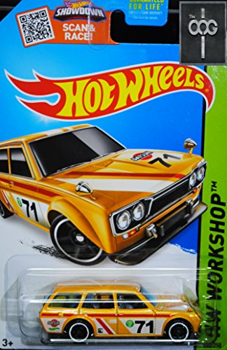 2015 Hot Wheels '71 Datsun Bluebird 510 Wagon 202/250 Orange/Yellow (2015 Hot Wheels Datsun compare prices)