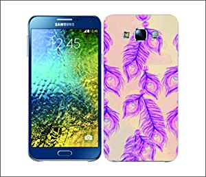 Galaxy Printed 2593 Peacock Windchimes Hard Cover for Samsung J5