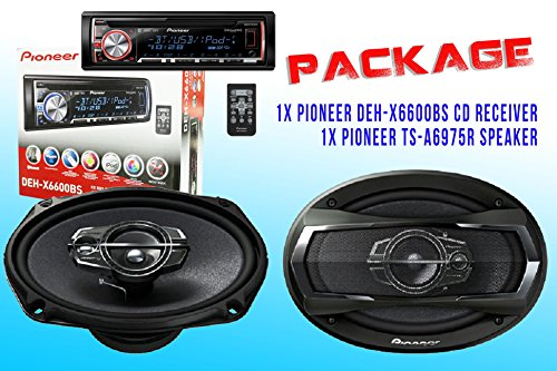 Package ! Pioneer Deh-X6600Bs Cd-Receiver + Pioneer Ts-A6975R Car Speakers