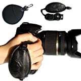 First2savvv new leather digital camera SLR hand strap grip for Canon EOS 1200D with UV lens filter protection bag case