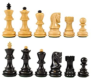 "Wholesale Chess Zagreb Style Ebonized Wood Chess Pieces - 2.5"" King Height"