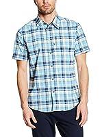 CMP Campagnolo Camisa Hombre 3T57057 (Cielo / Azul Índigo / Amarillo)
