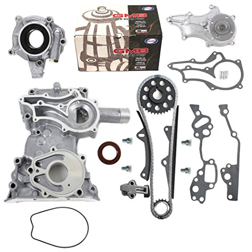 NEW TK10120TCWPOP HD Timing Chain Kit (2 Heavy Duty Metal Guides & Bolts) with Timing Cover, Water Pump, & Oil Pump / 85-95 Toyota 2.4L 4Runner Pickup Celica SOHC 8-Valve Engine 22R 22RE 22REC (Timing Chain Toyota Celica compare prices)
