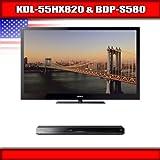 """Sony KDL-55HX820 - 55"""" BRAVIA 3D LED-backlit LCD TV + Sony BDP-S580 - 3D Bl ...."""
