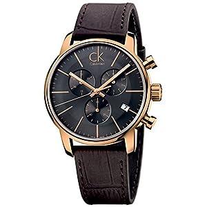 Amazon.com: Calvin Klein K2G276G3 City Grey Brown Chronograph Watch