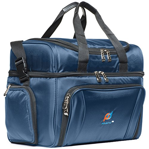 cooler-bag-large-15x12x9-inches-two-insulated-compartments-heavy-duty-polyester-high-density-insulat