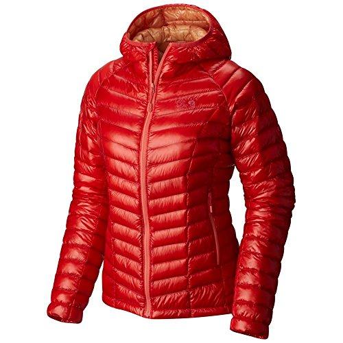 Mountain Hardwear-Ghost Whisperer-Piumino con cappuccio, colore: rosso scarlatto, Small