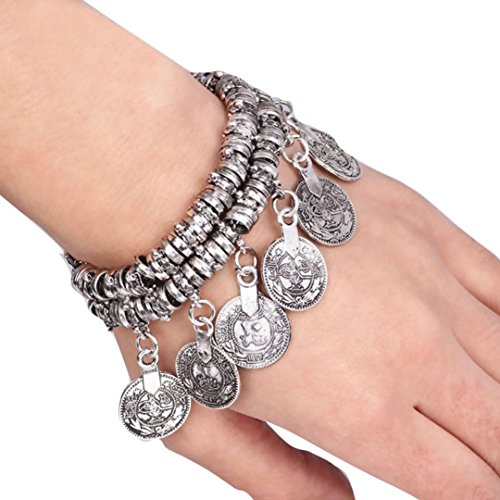 LowpriceniceTMHot-Turkish-Jewelry-Bohemian-Ethnic-Vintage-Silver-Coin-Bracelet-Anklet