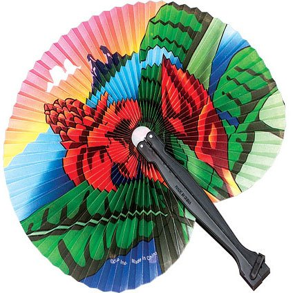 Luau Folding Fans
