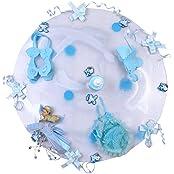 Renu's Fiber Circle Tray (30 Cm X 35 Cm X 30 Cm, Blue)
