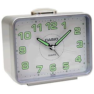 CASIO 10106 TQ-218-8 - Reloj Despertador analógico gris marca CASIO