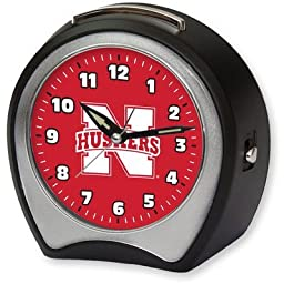 Collegiate Alarm Table Clock NCAA Team: University of Nebraska by Cottage Garden