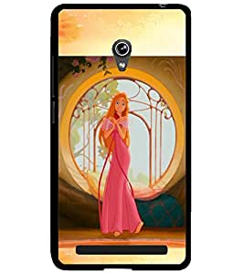 ColourCraft Tangled girl Design Back Case Cover for ASUS ZENFONE 6 A600CG