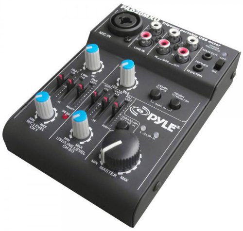 Pyle Pad20Mxu 5 Channel Professional Compact Audio Mixer With Usb Interface