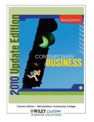 Contemporary Business {Metropolitan College Omaha, Ne Custom Edition} 2010 Update Metropolitan College Custom Edition (C
