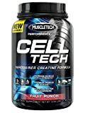 MuscleTech Cell-Tech Performance Series, Fruit Punch, 3.09 lb., Creatine HCl, Creatine Monohydrate and Carbohydrate Powder
