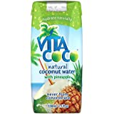Vita Coco 100% Natural Coconut Water with Pineapple 330 ml (Pack of 12)