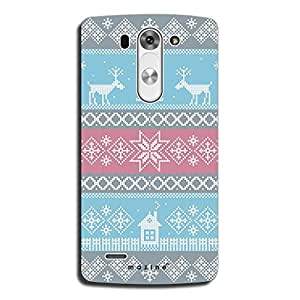 Mozine Deer Pattern Printed Mobile Back Cover For LG G3 Beat