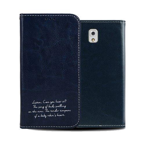 Galaxy S4 ケース Airlink Flip Case ギャラクシー S4 手帳型 フリップ ケース ネイビー(Navy) / SC-04E 携帯 スマホ スマートフォン モバイル ケース カバー ダイアリー カード 収納 ポケット スロット